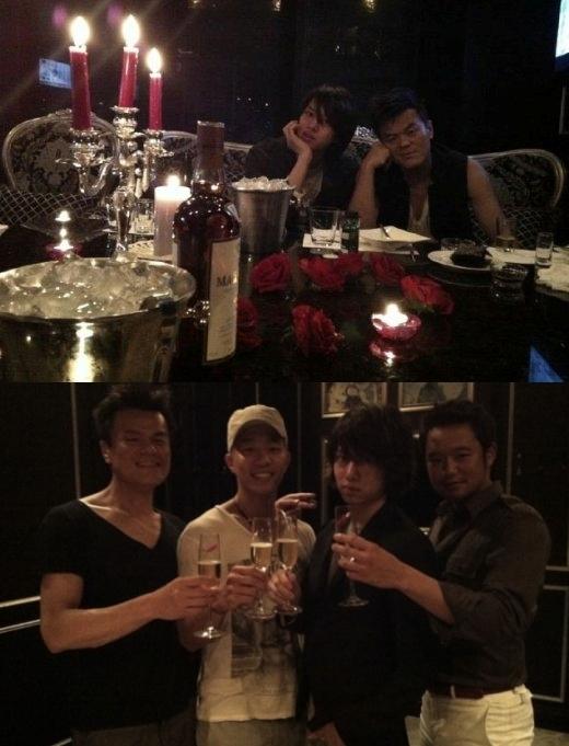"""Park Jin Youngcòn thể hiện sự ưu ái với cậu em """"hàng xóm"""" bằng việc hào phóng tổ chức tiệc sinh nhật choHeechul."""