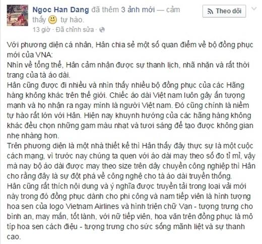 Những chia sẻ của hoa hậu Ngọc Hân về mẫu đồng phục mới của hãng hàng không Vietnam Airlines. - Tin sao Viet - Tin tuc sao Viet - Scandal sao Viet - Tin tuc cua Sao - Tin cua Sao