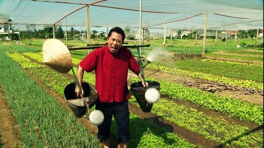 Còn gì tuyệt hơn khi được chế biến các món ăn dinh dưỡng và tốt cho sức khỏe tại một làng rau hữu cơ xanh mướt như vậy.