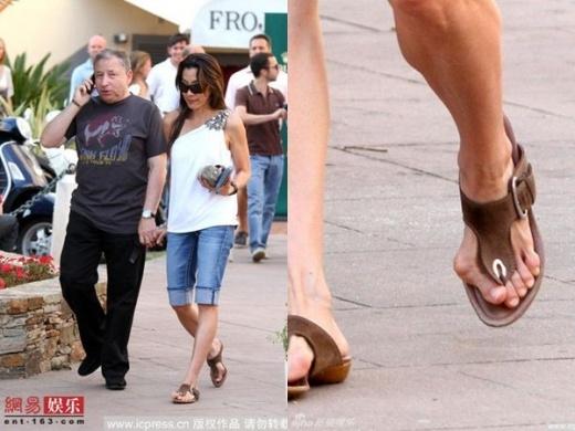 Dương Tử Quỳnh lộ bàn chân biến dạng. Đây bị coi là hậu quả sau nhiều năm đi giày cao gót của đả nữ châu Á.