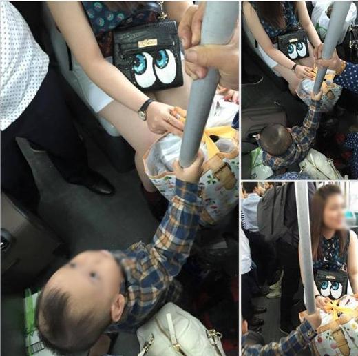 Bức xúc với hình ảnh cô gái trẻ không nhường ghế cho cụ già và trẻ em