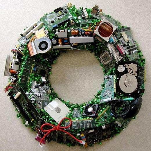 Cuối cùng là vòng nguyệt quế cho Giáng sinh.