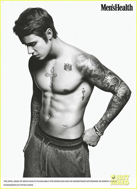 Justin Bieber cởi trần, tâm sự chuyện tình cảm