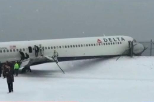 Máy bay gặp nạn vì thời tiết xấu.