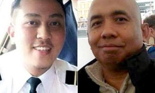 Cơ trưởng chuyến bay MH370 Zaharie Ahmad Shah (phải) và cơ phó Fariq Abdul Hamid. Ảnh: Reuters