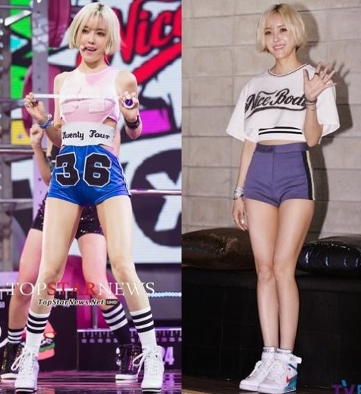 """Trào lưu sexy cũng giúp cộng đồng fan Kpop phát hiện ra đôi chân """"không thể đẹp hơn"""" củaHyomin (T-ara), đặc biệt cô nàng có dịp khoe chân trong nhiều màn trình diễn solo trên sân khấu."""