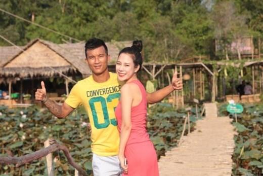 Trà My và Tiến Thành là cặp đôi đẹp trong giới bóng đá Việt Nam.