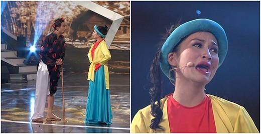 Nguyễn Thị Mận hát bài chòi với tác phẩm Ông xã bà đội.