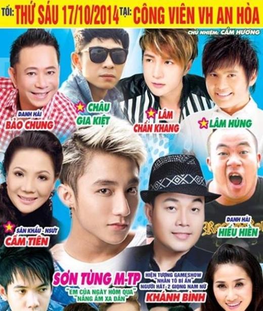 Poster chương trình tại miền Tây có sự tham gia của Sơn Tùng. - Tin sao Viet - Tin tuc sao Viet - Scandal sao Viet - Tin tuc cua Sao - Tin cua Sao