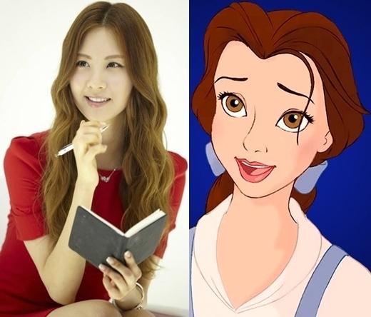 Seohyun (SNSD) với tính cách dịu dàng, ham đọc sách thật giống với Bella nhẹ nhàng đầy nữ tính và lương thiện trong Beauty And the Beast