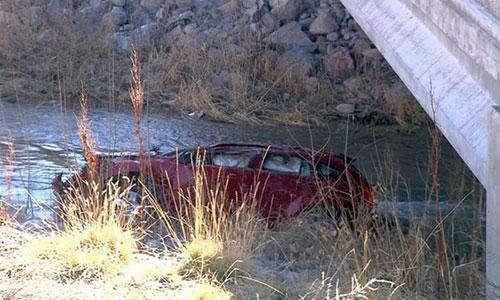 Chiếc xe chở mẹ con Lynn lao xuống sông Spanish Fork khi đang trên đường trở về nhà từ nhà ông bà ngoại ở thành phố Salem, bang Utah. Ảnh: BBC.