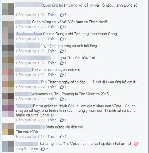 Nhiều khán giả vui mừng nếu Thu Phương thật sự ngồi ghế nóng Giọng hát Việt 2015. - Tin sao Viet - Tin tuc sao Viet - Scandal sao Viet - Tin tuc cua Sao - Tin cua Sao