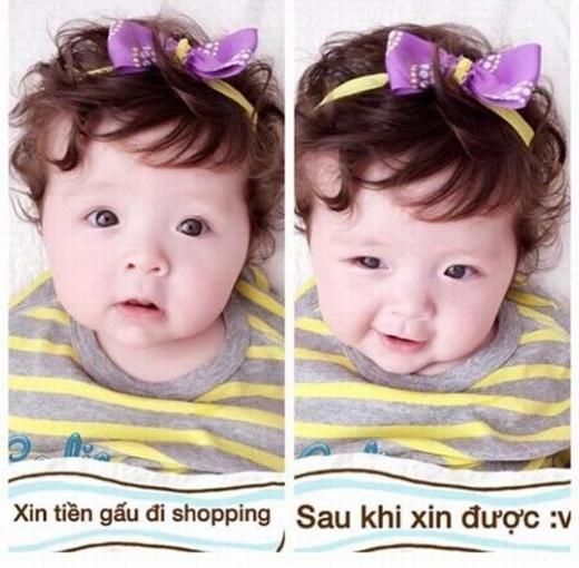 Những bức hình của bé rất hay được chế lại theo phong cách vui nhộn khiến nhiều người không khỏi bật cười.