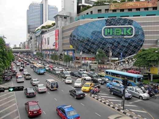 Khu vực mua sắm Siam nổi tiếng của Thái