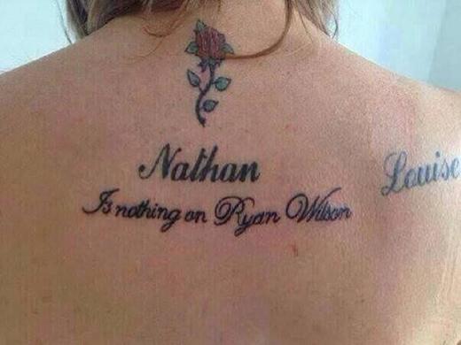 Bồ cũ tên là Nathan, bồ mới tên là Ryan Wilson. Và Nathan không là gì so với Ryan Wilson cả nhé!
