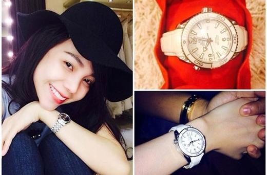Trước đó, cô từng gây sốc khi tiết lộ được bạn trai tặng đồng hồ trị giá 200 triệu đồng. - Tin sao Viet - Tin tuc sao Viet - Scandal sao Viet - Tin tuc cua Sao - Tin cua Sao