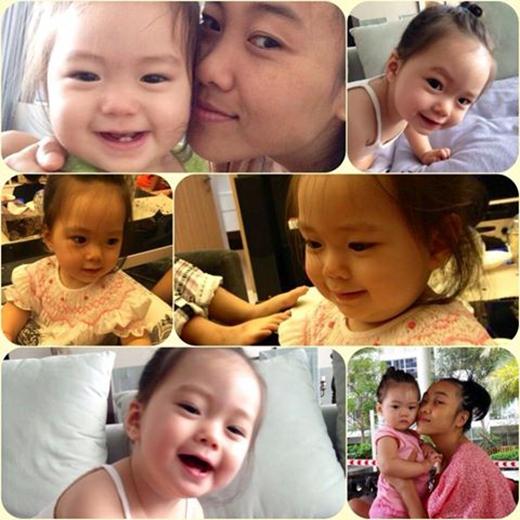 Đoan Trang đã ghi lại tất tần tật những khoảnh khắc đáng yêu bên con gái trước khi con tròn 1 tuổi. Đây là một trong những niềm hạnh phúc lớn của người làm mẹ. Bé Sol càng lớn càng đáng yêu và xinh xắn. Bé rất được các fan của nữ ca sĩ Socola cưng chiều, yêu quý, điều này làm cho niềm hạnh phúc của bà mẹ Đoan Trang được nhân lên nhiều lần.