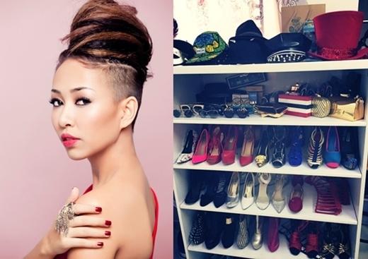 """Nữ ca sĩ """"xấu lạ"""" của làng nhạc Việt Thảo Trang mua những đôi giày rất cá tính, giống với phong cách của cô. - Tin sao Viet - Tin tuc sao Viet - Scandal sao Viet - Tin tuc cua Sao - Tin cua Sao"""
