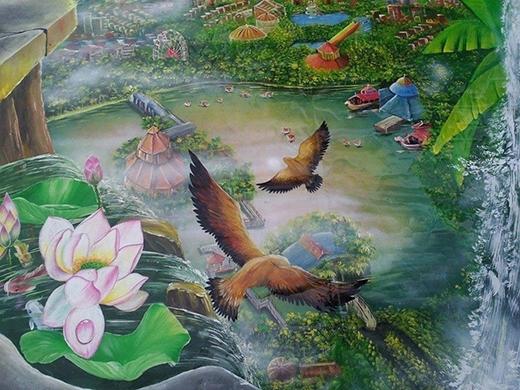 Ấn tượng mạnh với những bức tranh 3D đẹp như thật của giới trẻ Việt