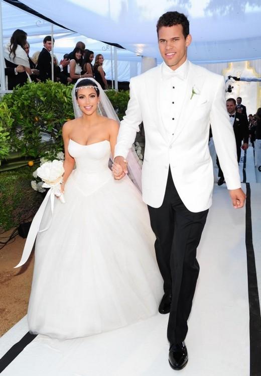 Kim trong đám cưới của mình với cầu thủKris Humphries