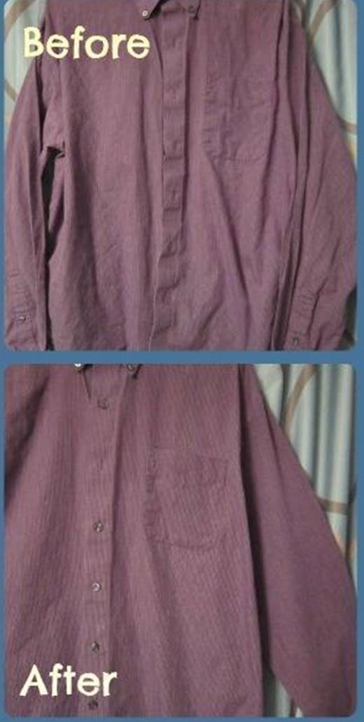 Hòa giấm và một ít nước dung dịch làm mềm vải và phun lên áo. Mẹo vặt này có thể giúp làm giảm nếp nhăn trên vải một cách hiệu quả.