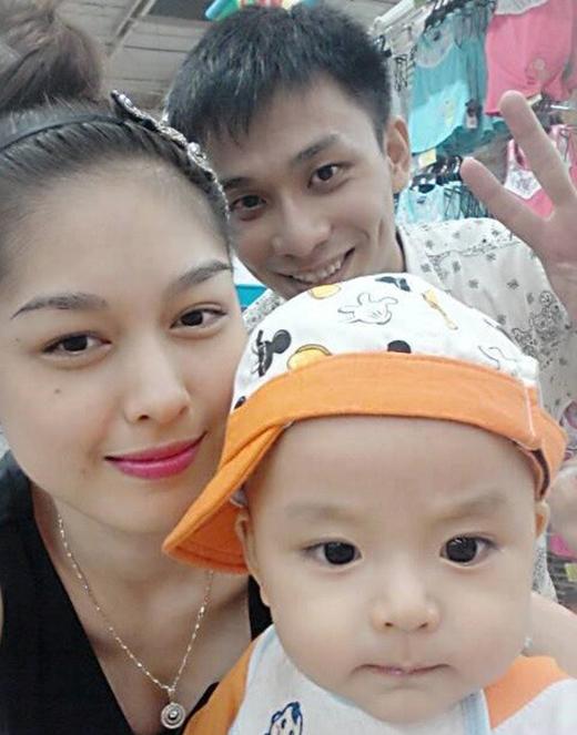Gia đình nhỏ hiện tại của Thanh Hiền.