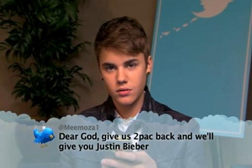 Justin Bieber lại có vẻ không hài lòng với lời ác ý nói về mình: Lạy Chúa, hãy đem 2pac trở về và chúng con sẽ gửi cho Ngài Justin Bieber