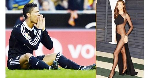 """Sau khi bị siêu mẫu Irina Shayk """"đá"""", phong độ của Ronaldo trong màu áo Real xuống dốc không phanh"""