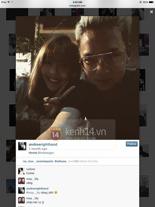 Những hình ảnh trên khiến cho cộng đồng mạng nghi ngờ về mối quan hệ của Khả Ngân và Andree?