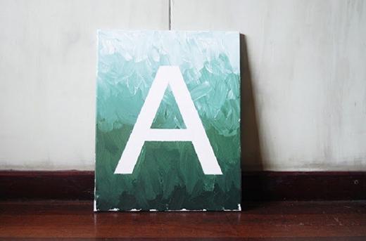 Đây là cách nhanh nhất và đơn giản nhất - trang trí bằng các chữ cái bất kỳ (typo)