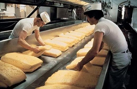 Nếu một người công nhân ngủ gục trong nhà máy phô mai ở Ferrara, ý, họ có thể bị phạt vì đó là một hành động bất hợp pháp.