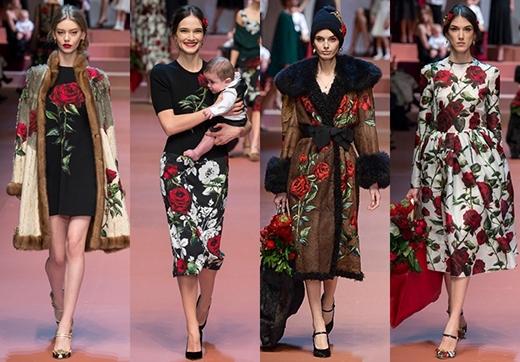 Khu vườn tràn ngập hoa hồng và tình mẫu tử của Dolce&Gabbana Thu Đông 2015-2016