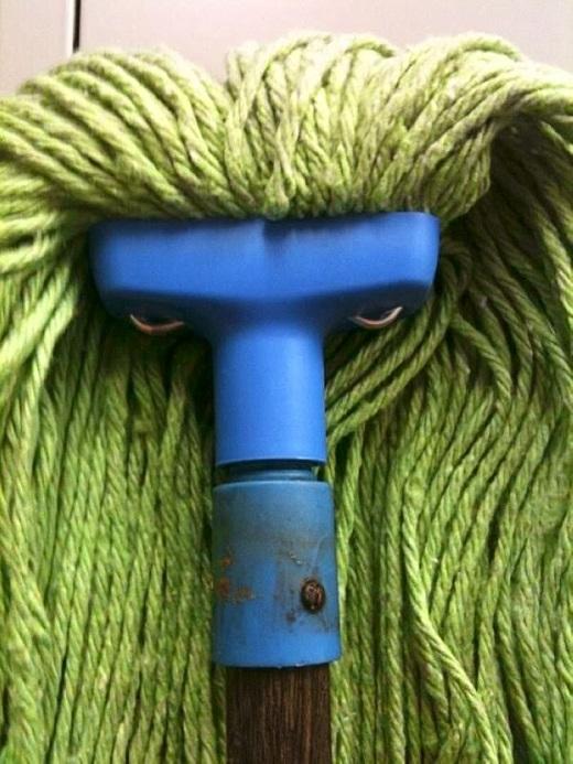 6. Giẻ lau nhà cũng khiến bạn phải dựng tóc gáy