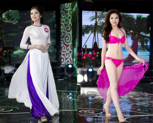 Trong trang phục bikini, Kỳ Duyên hoàn toàn thu hút với đôi chân dài, thon cực kì xinh đẹp của mình. - Tin sao Viet - Tin tuc sao Viet - Scandal sao Viet - Tin tuc cua Sao - Tin cua Sao
