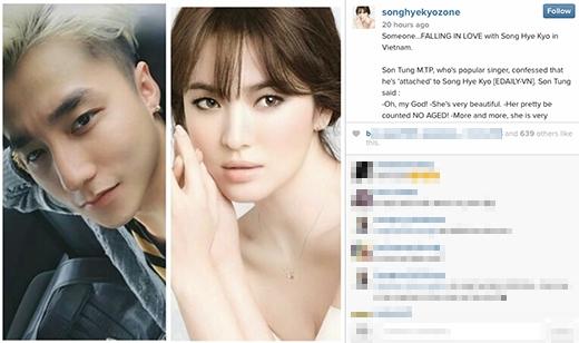 Thực hư chuyện Song Hye Kyo bất ngờ đăng ảnh Sơn Tùng M-TP - Tin sao Viet - Tin tuc sao Viet - Scandal sao Viet - Tin tuc cua Sao - Tin cua Sao