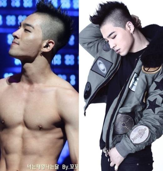 Đường cằm quyến rũ chính là một trong những lý do Taeyang thích chụp một bên gương mặt để có thể khoe xương quai xanh hoàn hảo.
