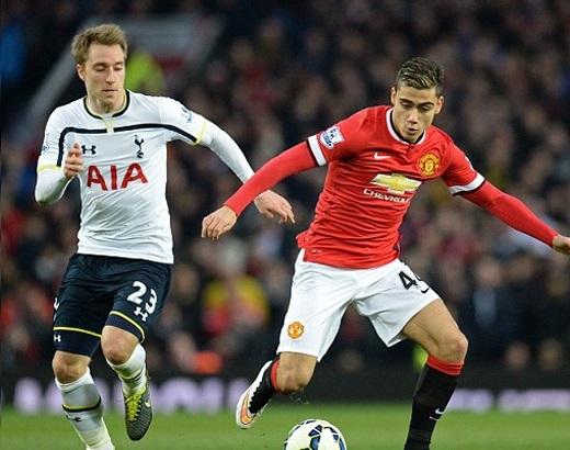 Andreas Pereira mới có trận ra mắt MU ở Premeir League trong chiến thắng 3-1 trước Tottenham cách đây ít hôm