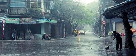 Mưa ở Hà Nội.