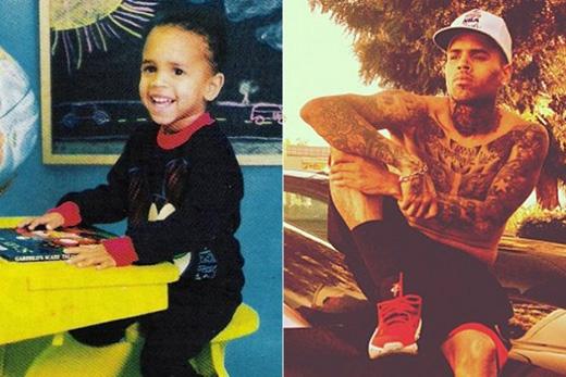 Có ai có thể nhận ra cậu bé đáng yêu, ngọt ngào này chính là Chris Brown không?