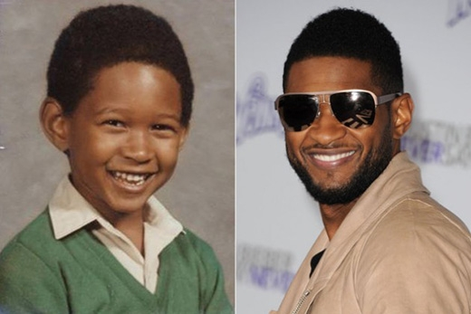 Usher lém lỉnh đáng yêu hết cỡ khi đến trường