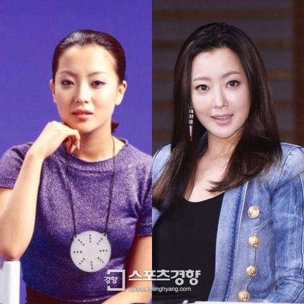 Hình ảnh Kim Hee Sun trong buổi chụp hình vào tháng 8/1995 và ảnh trong buổi họp báo vào ngày 17/3/2015: 20 năm trôi qua, gương mặt gần như không thay đổi