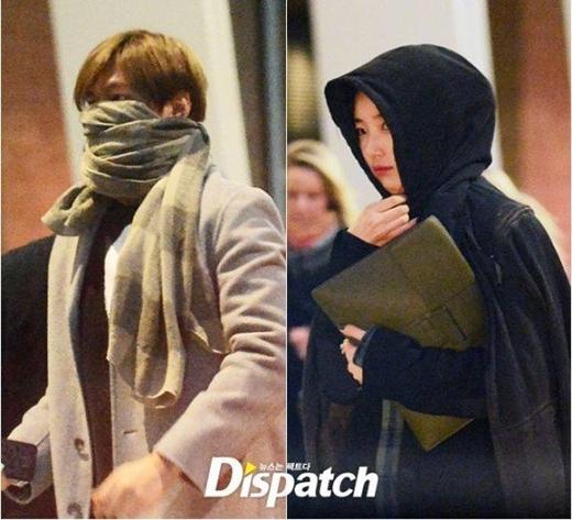 Hình ảnh Lee Min Ho và Suzy bị Dispatch bắt gặp hẹn hò tại London