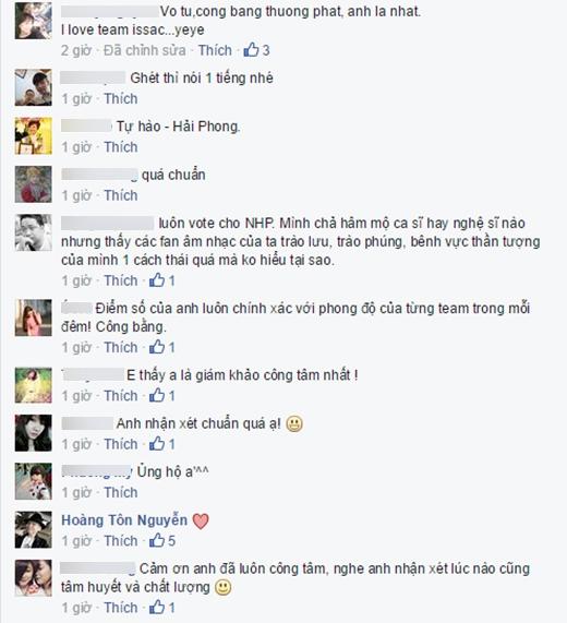 Nhiều khán giả đồng tình, ủng hộ quan điểm của Nguyễn Hải Phong. - Tin sao Viet - Tin tuc sao Viet - Scandal sao Viet - Tin tuc cua Sao - Tin cua Sao