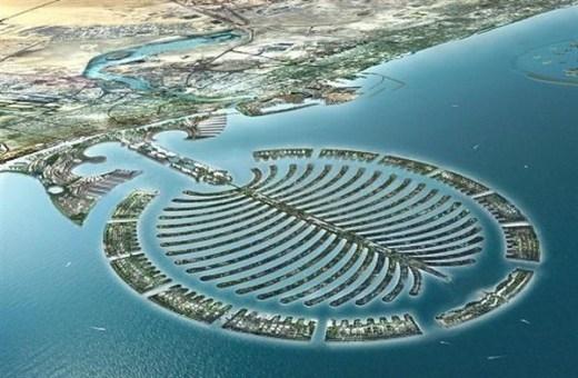 Hòn đảo Palm Jumeirah này là hòn đảo nhân tạo cho đất nước này xây dựng.