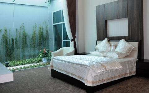 Nhà khách VIP A có cả phòng nghỉ dành cho nguyên thủ và chính khách quốc tế.
