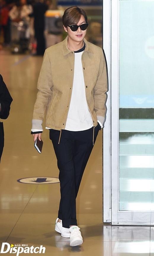 Lee Min Ho đáp chuyến bay từ Paris đến sân bay Incheon vào ngày 19/3