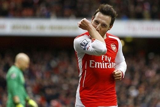 9. Santi Cazorla (Arsenal).