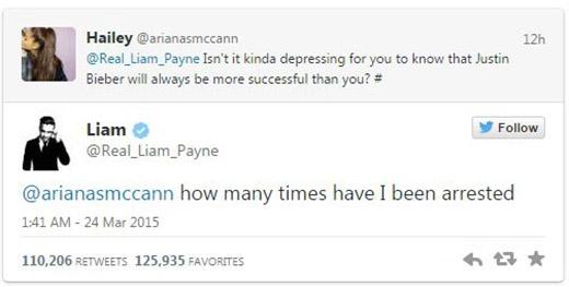 Liam (One Direction) công khai mỉa mai Justin Bieber