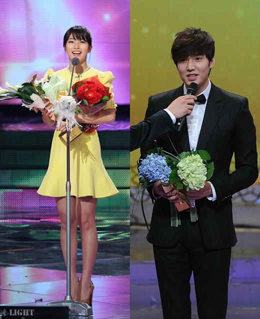 Cặp đôi đều là nam thân và nữ thần của Châu Á. Nếu như Lee Min Ho từng được bầu chọn là Nam thần châu Á và danh hiệu đó đã theo anh cho đến tận ngày nay thì Suzy đã được vinh danh là nữ thần tại Đêm hội Weibo 2014.