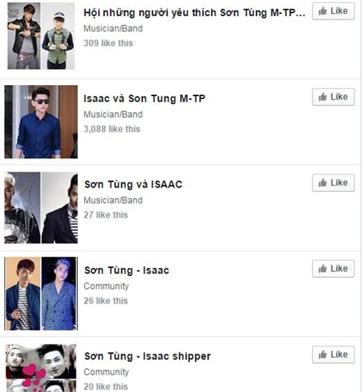 Hàng loạt fanpage Sơn Tùng - Issac được tạo ra sau liveshow7 The Remix. - Tin sao Viet - Tin tuc sao Viet - Scandal sao Viet - Tin tuc cua Sao - Tin cua Sao